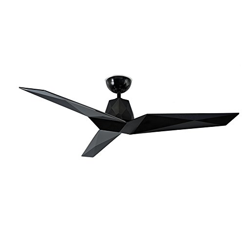 Vortex Indoor/Outdoor 3-Blade Smart Ceiling Fan 60in Gloss Black with Wall Controller works with iOS/Android, Alexa, Google Assistant, Samsung SmartThings, and Ecobee