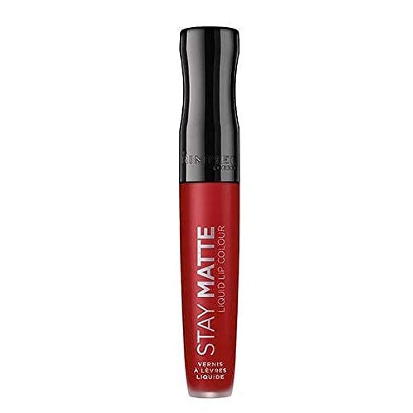 傀儡インフラ極地[Rimmel ] リンメルステイマット液状口紅火災スターター500 - Rimmel Stay Matte Liquid Lipstick Fire Starter 500 [並行輸入品]