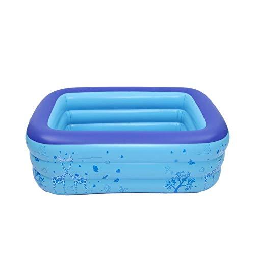 Opblaasbare babybadkuip, anti-slip douche voor kinderen, reizen, 3 lagen voor kinderen, baby's, peuters, pasgeborenen, opvouwbaar zwembad met gratis luchtpomp 180 cm  Rosa Roja