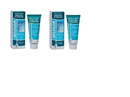 Akilenjur - Crème Prévention Engelures et Gerçures Visage Mains Pieds - 75 ml Lot de 2 tubes