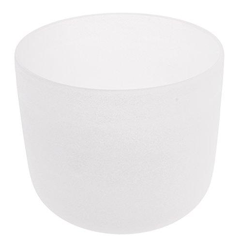 MagiDeal Tazón de Cantar Escarchado C Raíz Cuarzo Cristal Canto Cuenco de Color Blanco