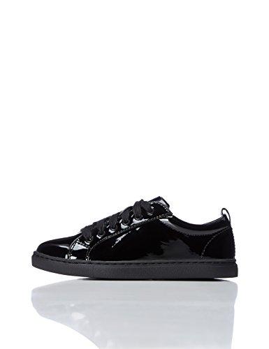 REDWAGON Zapatillas de Charol para Niñas, Negro (Black Patent), 33 EU
