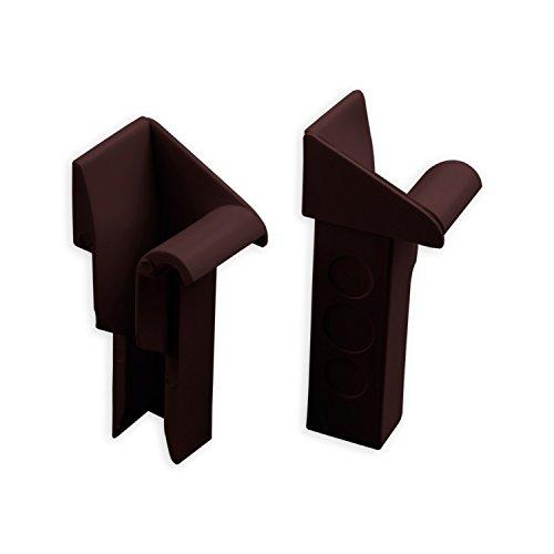 DIWARO® Einlauftrichter für Mini Aluminium-Führungsschiene | zum Einschieben | 18,5 mm | braun