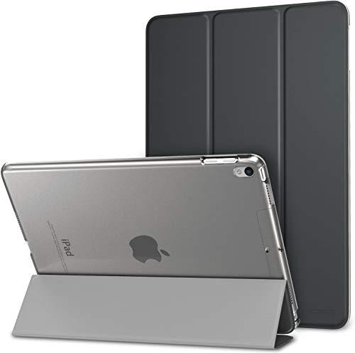 """MoKo Smart Cover per New iPad Air (3rd Generation) 10.5"""" 2019 / iPad Pro 10.5 2017 - Ultra Sottile Leggero Custodia con Auto Sveglia/Sonno con Retro Semi-trasparente Rigido, Grigio Siderale"""