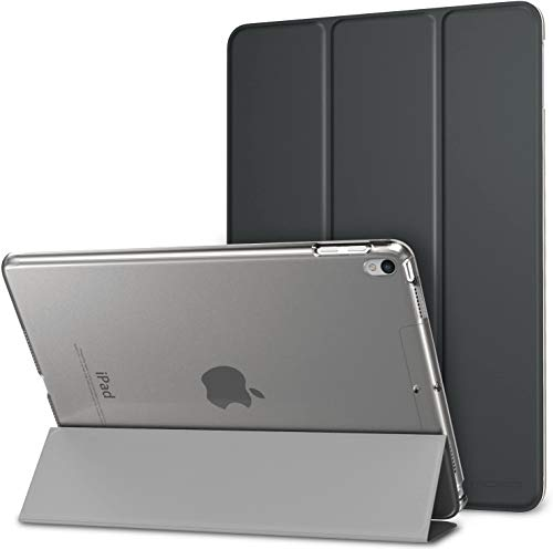 MoKo Case Fit New iPad Air 3 2019(3rd Generation 10.5 inch)/iPad Pro 10.5 2017 - Slim Lightweight Smart Shell Stand Cover with Translucent Frosted Back Protector - Space GRAY (Auto Wake/Sleep)