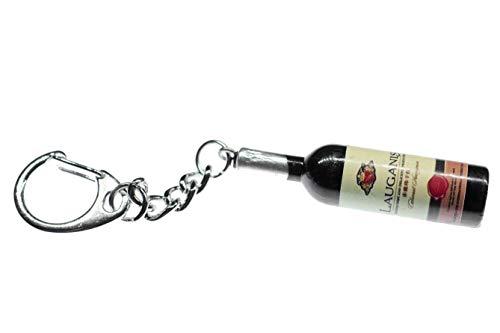 Miniblings Cadena de la Botella de Vino Botella de Vino Clave Hechos a Mano Pendientes de joyería de Moda I Llavero Llavero - Botella de Vino de la Botella de Vino