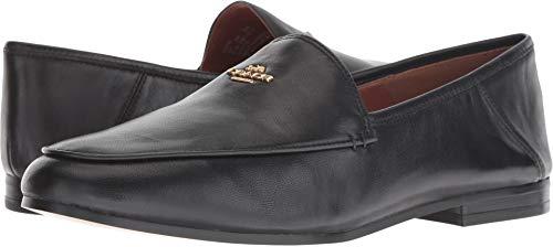 COACH Hallie Leather Loafer Black 10