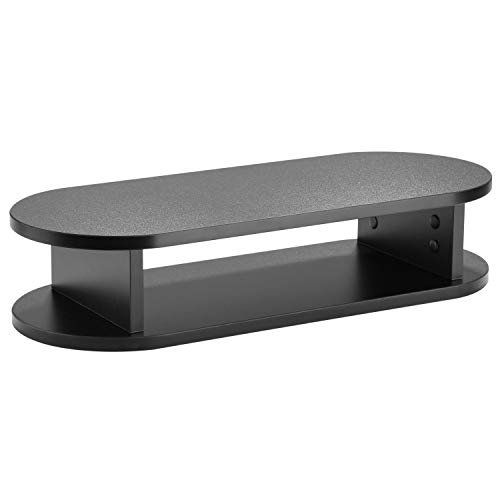 RICOO FS0116 Monitor-Ständer 60 x 24 x 13 cm Schreibtisch Tisch-Aufsatz Ablage Notebook Laptop-Ständer Desktop Bildschirm Erhöhung Schwarz