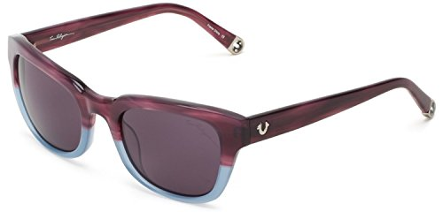 True Religion Sunglasses Heather Rectangular Sunglasses, Purple & Blue Crystal, 52 Mm