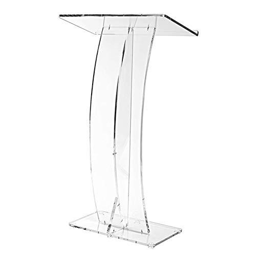 GonFan Präsentations-Rednerpult, transparent, für die Kirche, einfache Montage erforderlich (Farbe: transparent, Größe: 67,9 x 35,6 x 119,4 cm)