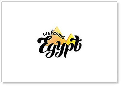 Egypte Welcome Typography Illustratie Koelkast Magneet