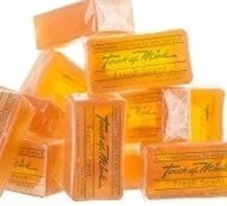 Natural Mink Oil Soap Bars - Fresh Scent Mens and Womens Daily Cleanser With Moisturizing Vitamin E - Soft Facial and Body Wash - Also Great Non-Drying Shaving Soap For Everyone! - Bulk 6 Pack