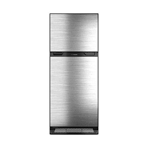 Furrion 10 cu.ft Arctic 12 Volt Left Hinge Built-in Refrigerator (Black) for RV, Camper or Trailer with Independent Freezer - Stainless Steel Door Panel - FCR10DCGTA-BR-SV