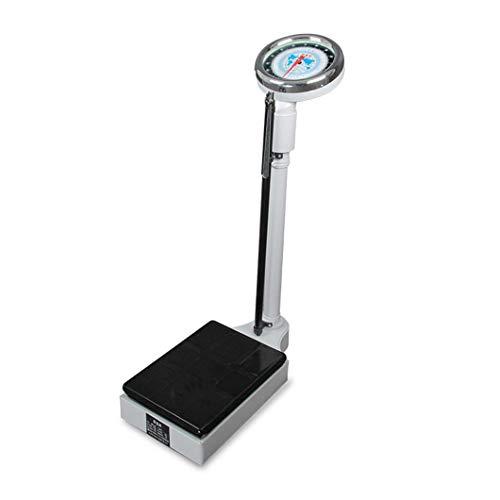 YYAI-HHJU Báscula Médica Digital De Medidor De Salud, con Básculas De Baño para Médicos Mecánicos con Varilla De Altura, Monitores De Peso Saludable