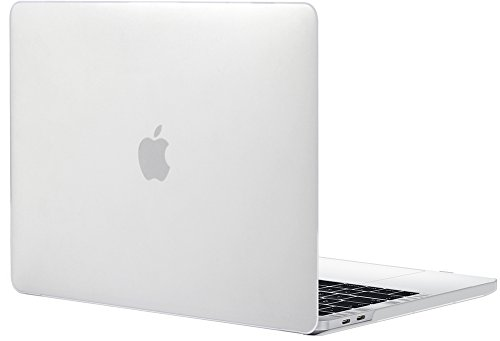 TOPIDEAL MacBook Pro 15 Case (2018/2017//2016 Release, Model: A1990/A1707) Smooth Matte Frosted Plastic Hard Cover for Macbook Pro 15 Inch with Touch Bar and Touch ID -Clear