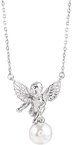 WYDSFWL Collar Collar de ángel Cadena de botón Simple Mujer