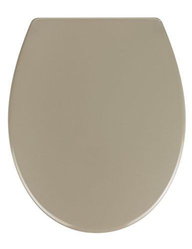 Wenko 21835100 Samos Abattant avec Frein de Chute Thermosouple Taupe 47,5 x 6,0 x 40,0 cm