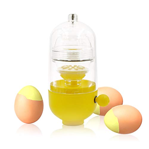 Gold Egg maker manual Scrambled Egg Maker, huevos sacudir dentro de la cáscara, hacer huevos duros dorados, huevos duros, huevos rellenos, idea divertida,Clear