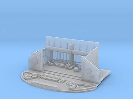 Smooth Fine Detail Plastic shapeways 1//350 Refit Bridge Exterior.