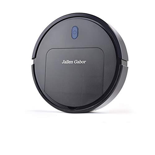 GJG Robot Aspirador Y Fregasuelos, Super Delgado, 1800Pa De Succión, Tranquilo, para El Pelo De Mascotas Piso De Madera Azulejo De Alfombra,Negro