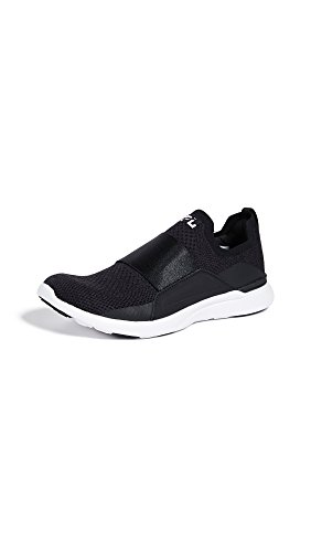 APL: Athletic Propulsion Labs Women's Techloom Bliss Sneakers, Black/Black/White, 5.5 Medium US
