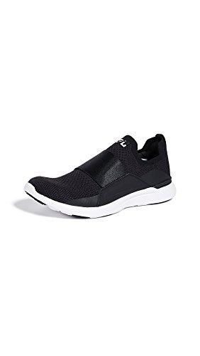 APL: Athletic Propulsion Labs Women's Techloom Bliss Sneakers, Black/Black/White, 5 Medium US