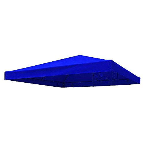Keyohome Copertura Gazebo 3x3m Impermeabile Anti-UV in Tessuto Oxford Telo di Ricambio per Gazebo per Giardino Esterno (Blu)