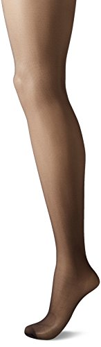 CK Women's Matte Ultra Sheer Pantyhose with Control Top, Almost Black, Size D