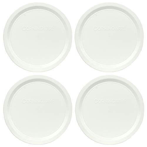 Corningware F-16-PC French White 16 Ounce Plastic Replacement Lid - 4 Pack