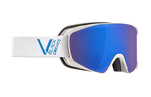 Black Crevice Unisexe - Masque de Ski Schladming, White/Blue, Taille M (Tour de tête 55-58 cm)
