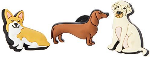 Crocs Jibbitz Charms Animal 3-Pack | Jibbitz for Crocs, Trendy Dog, Small