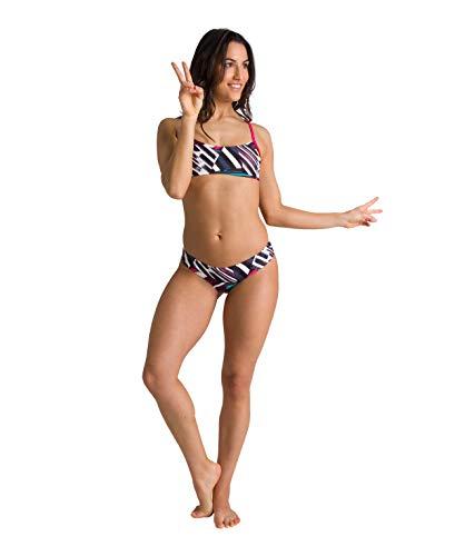 ARENA Parte Inferior de Bikini para Mujer, Standard Rule Breaker Uniquw MaxLife, Freak Rose, S