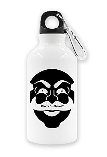 RaMedia 10 Wie Is De heer Robot Masker Art Cyber Hacker Elliot Tv Toeristische Water Fles