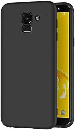 AICEK Coque Samsung Galaxy J6 2018, Noir Silicone Coque pour Samsung J6 2018 Housse Galaxy J6 2018 Noir Silicone Etui Case (5,6 Pouces)