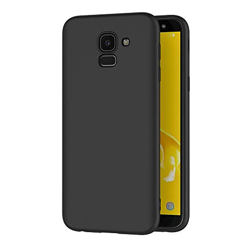 AICEK Samsung Galaxy J6 2018 Hülle, Schwarz Silikon Schutzhülle für Samsung J6 2018 Case TPU Bumper Galaxy J6 2018 Handyhülle (5,6 Zoll)
