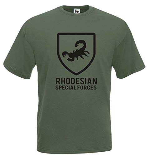 NR Grid Rhodesian j601 T-Shirt Army Special Forces Military Cotton Collectibles