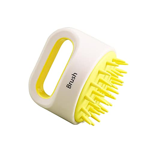 Women's applying shampoo brush, care massage scalp massager, scalp care massage brush (Yamabuki Yellow)