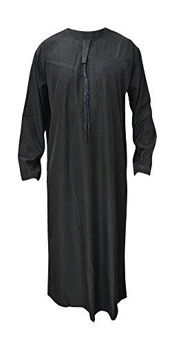 Desert Dress - Thobe UAE Omani Dishdasha Arabisch Arghan Saudi Marokkanisch - 56, Schwarz