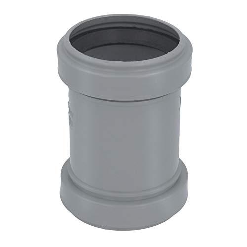 HT Rohr Überschiebmuffe Ø DN 50 mm Länge 105 mm Grau | PP Muffe Mit 2 Gummidichtringen | Kanalrohrsystem Abwasserrohr Doppelmuffe Heißwasser Chemische Beständigkeit | Abwasser Installation