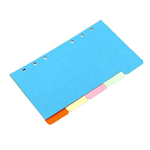 GGOOD Binder Ordner Divider Document Organizer Trennseiten Beschriften Karten Papiermodelle Mini-mappe Taschen Ordner Zubehör A6 Typ 1pc