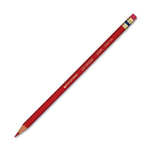 Prismacolor Col-Erase Erasable Colored Pencil, Scarlet Red, 12 Count