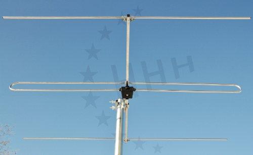 3 Elemente Yagi UKW/FM Antenne 3H-FM-3 mit F-Anschluss für horizontale oder vertikale Außen- oder Unterdachmontage