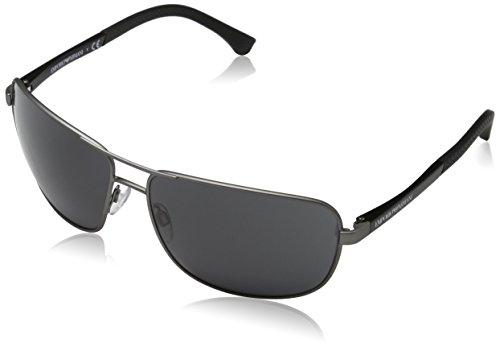 Emporio Armani Unisex 309487 Sonnenbrille, Schwarz (Gunmetal Rubber 313087), X-Large (Herstellergröße: 64)