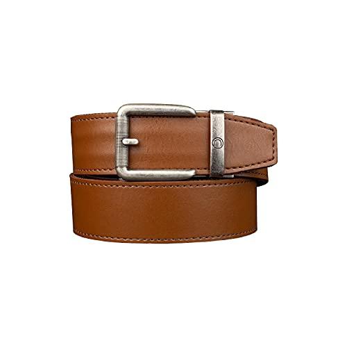 Nexbelt Ratchet Belt for Men - Tactical Rogue Walnut CCW Leather EDC Gun Belt for Concealed Carry