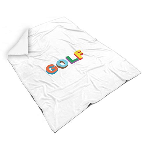 O2ECH-8 Dekbedovertrek, golfkleurig motief, bedrukt, fleece reus wrap robe, golfliefhebbers, ultra zacht, past voor kinderen en volwassenen