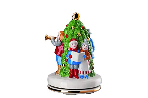 Hutschenreuther Weihnachtsmarkt-limitiert auf 999 Exemplare Ø 12 cm/Höhe 17 cm-Melodie: Leise rieselt der Schnee Spieluhr, Porzellan, Bunt