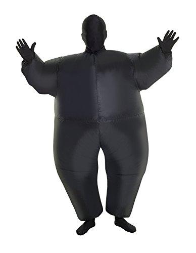 MorphCostumes Black MegaMorph Kids Inflatable Blow Up Costume - One Size (MCKIBK)