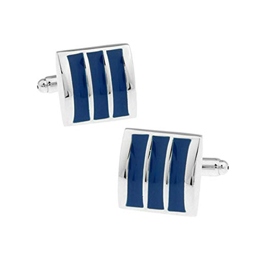 2 PCS Manschettenknöpfe Hemd Herren Quadrat Manschettenknöpfe Herren Vintage Blau Manschettenknöpfe Werbegeschenk