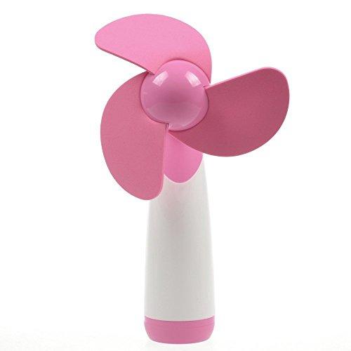 LingsFire mini ventilatore, super silenzioso, con batteria AA, ventilatore personale elettrico, da usare a casa o in viaggio (blu)