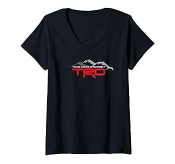 Womens TRD Racing Development Logo V-Neck T-Shirt